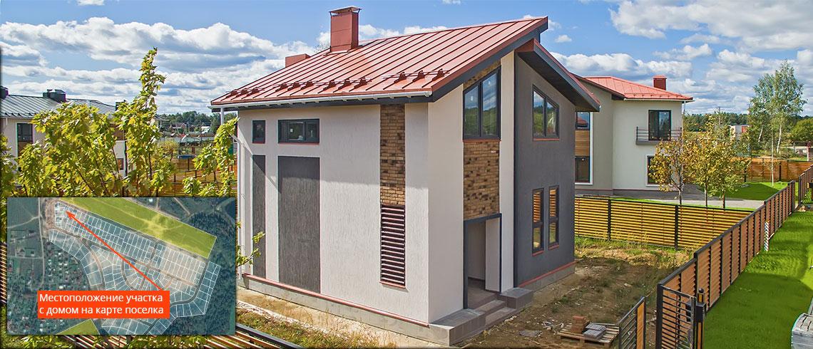 Недорогие готовые дома в Подмосковье, Дом МС-113 с участком КП «Берег Песочной»