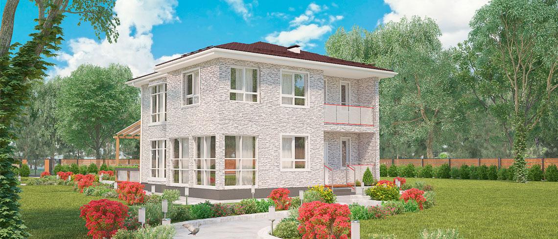 Недорогие готовые дома в Подмосковье, Дом МС-160 с участком КП «Берег Песочной»