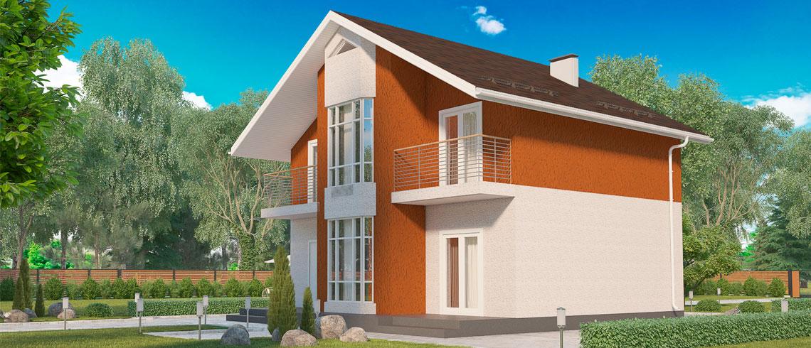 Недорогие готовые дома в Подмосковье, Дом МС-164 с участком КП «Берег Песочной»
