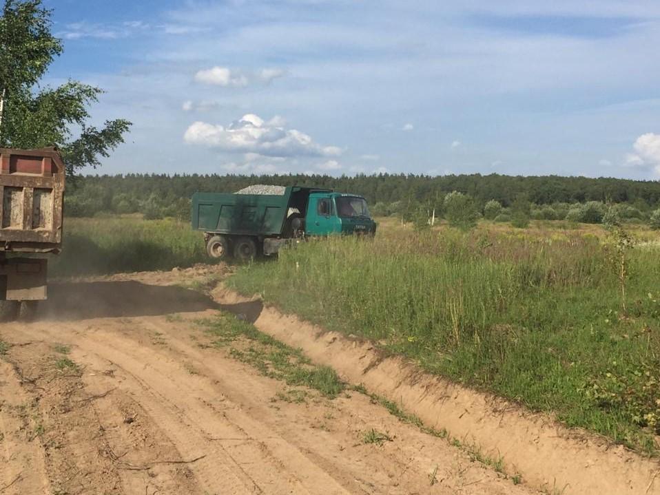 В КП «Костин лес» производится отсыпка двух новых дорог