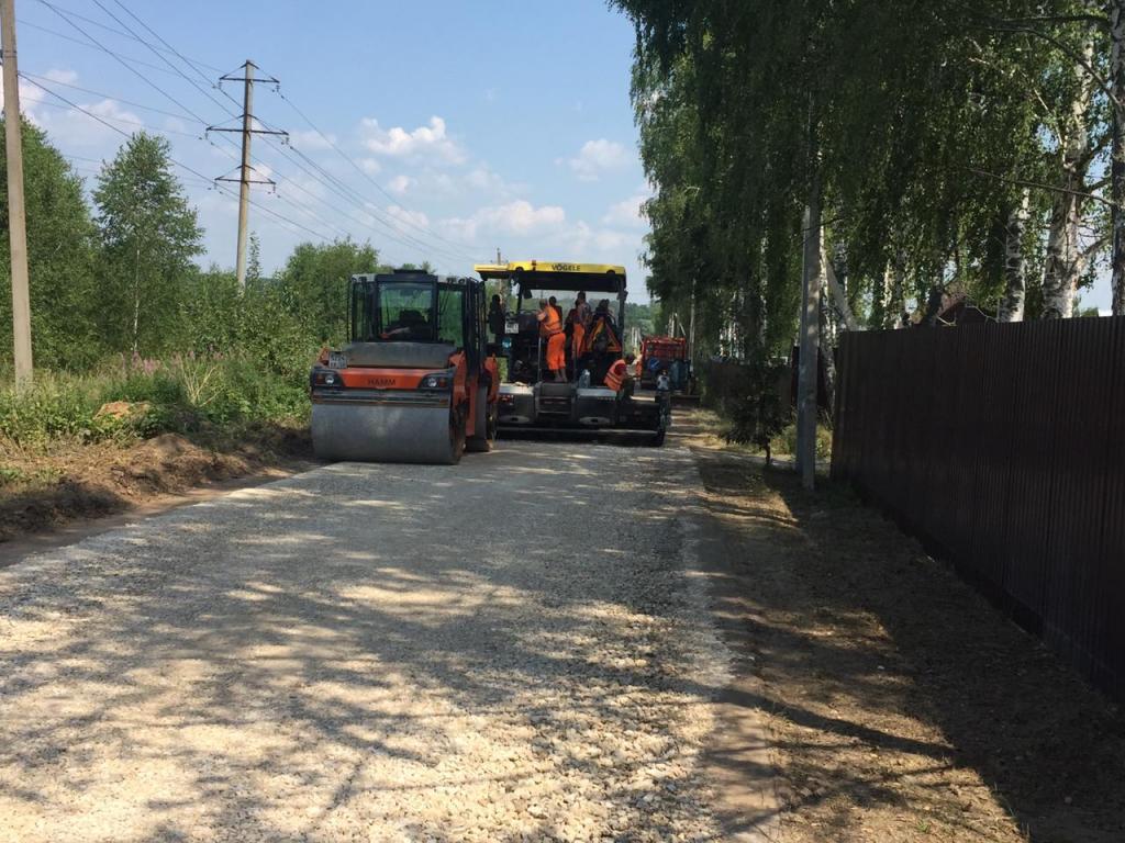 Активно идут работы по генеральному ремонту подъездной автодороги