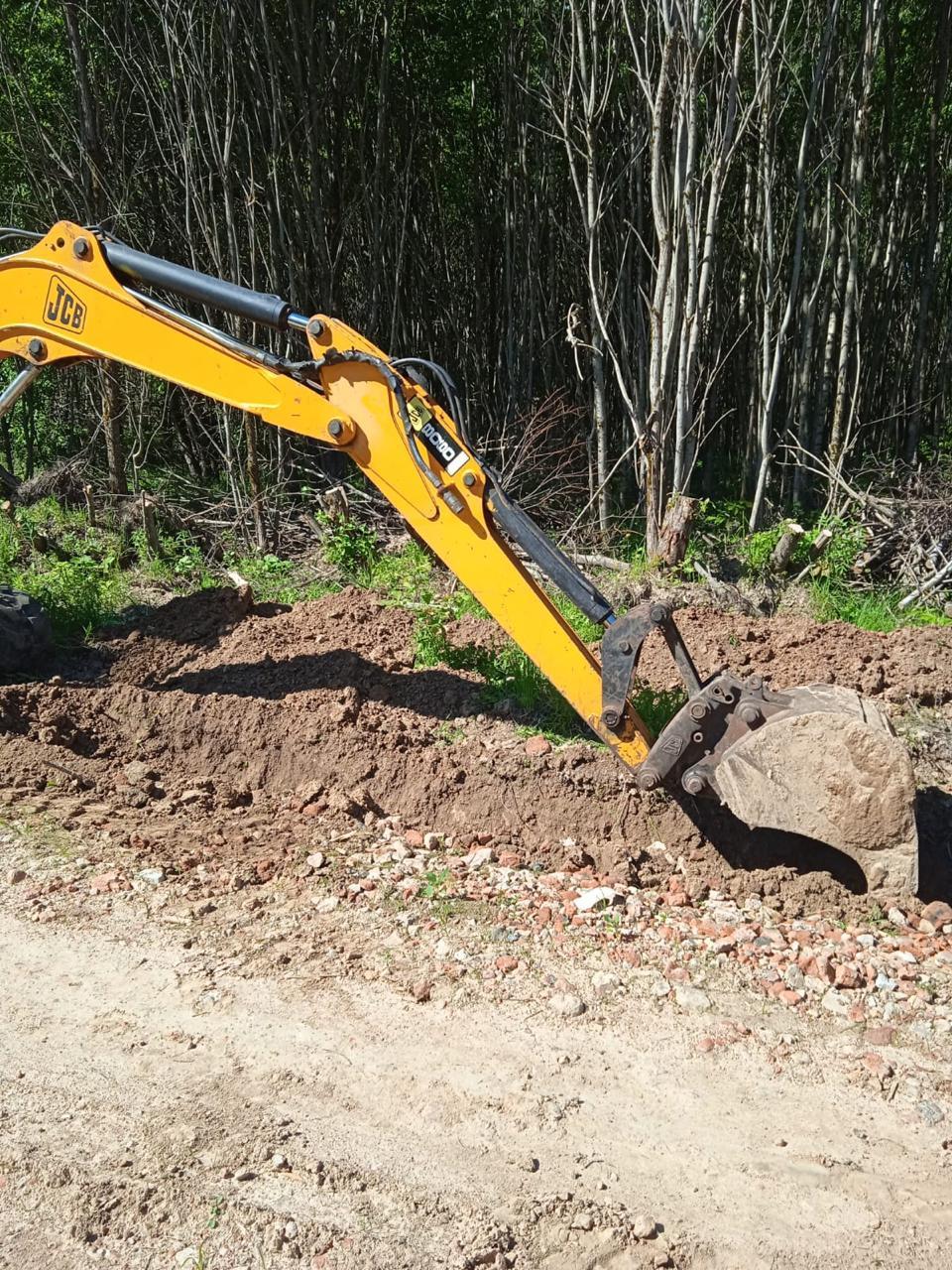 В КП «Лесная поляна» продолжаются работы по строительству дороги на 3 улице