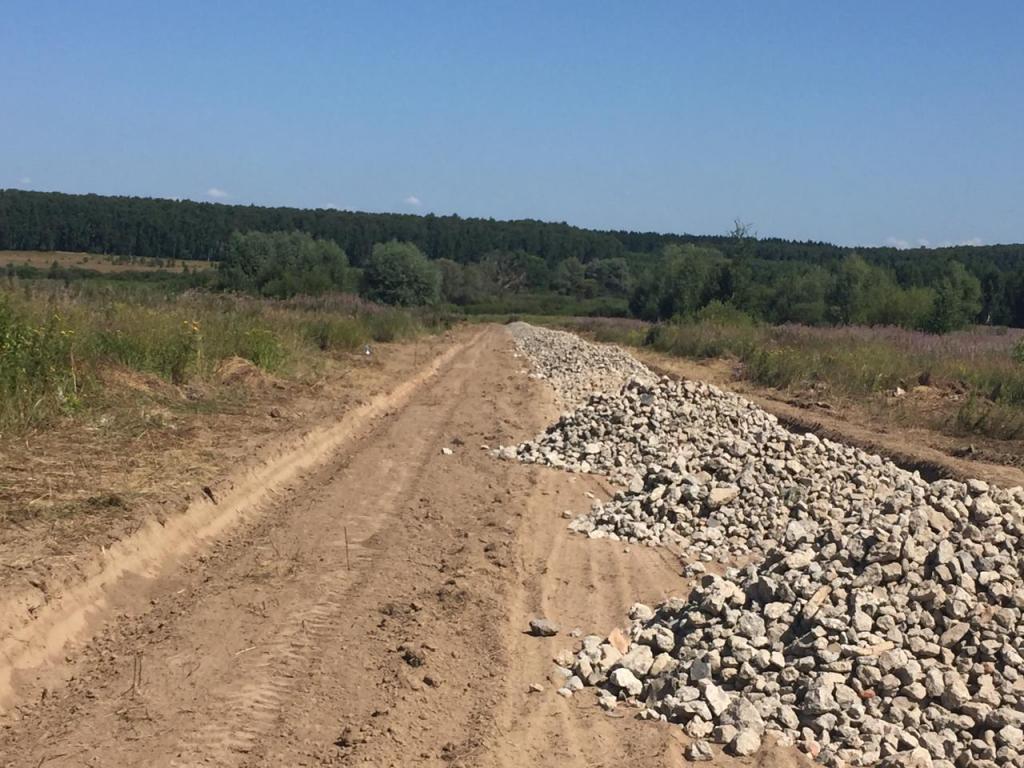 В КП «Рыболово парк-3» продолжаются работы по строительству дорог