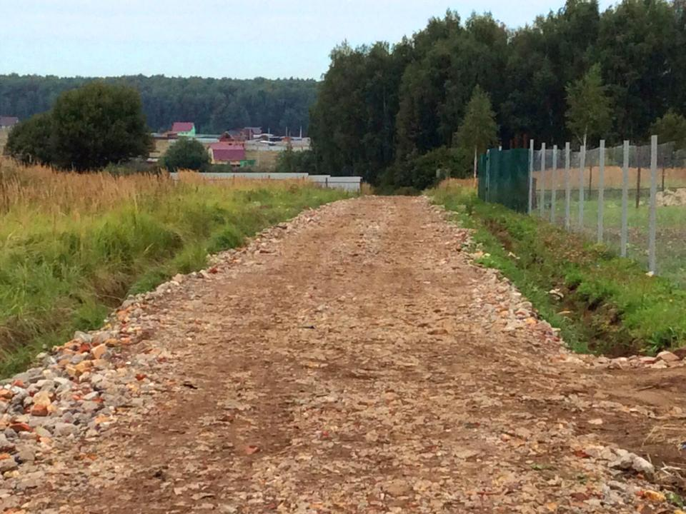 Отсыпка подъездной дороги к КП «Костинский лес»