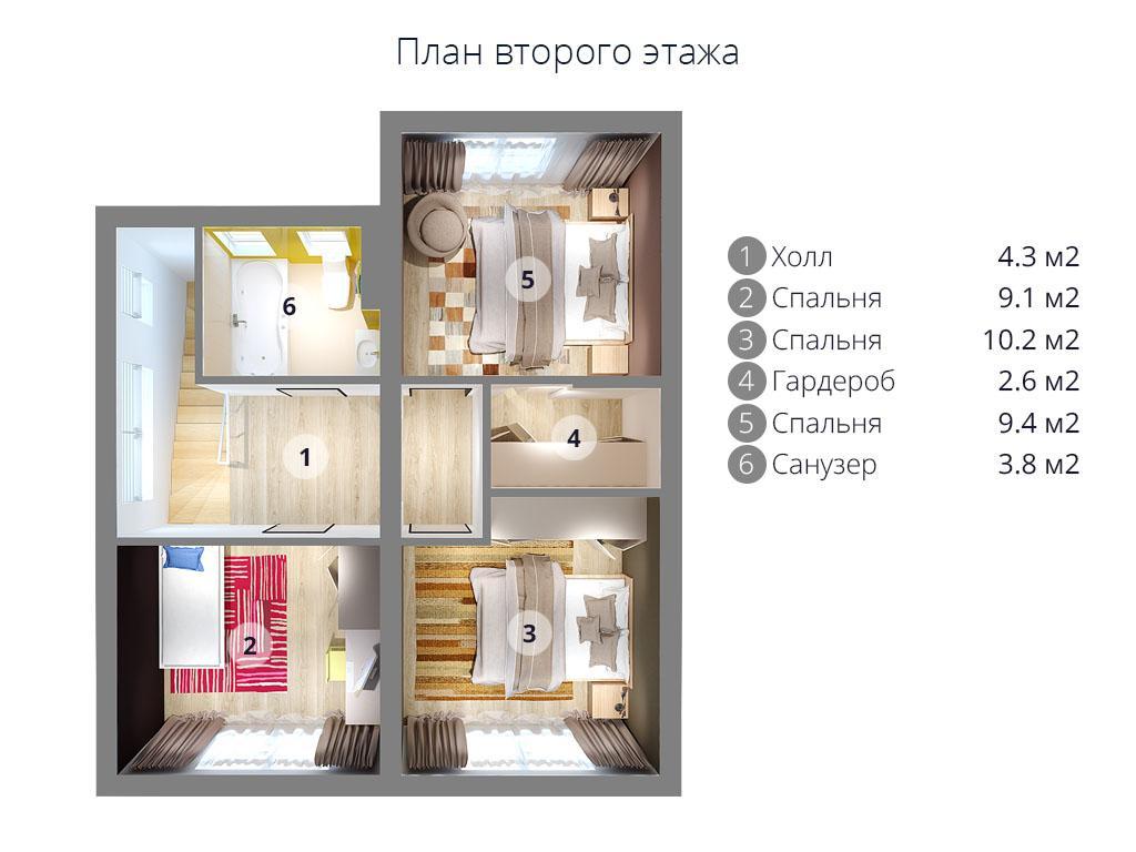 Дом МС-113 с участком в КП «Берег Песочной»