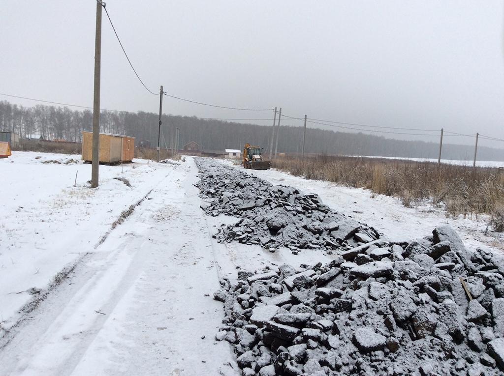 Продолжается строительство дорог в КП «Раменские дали»