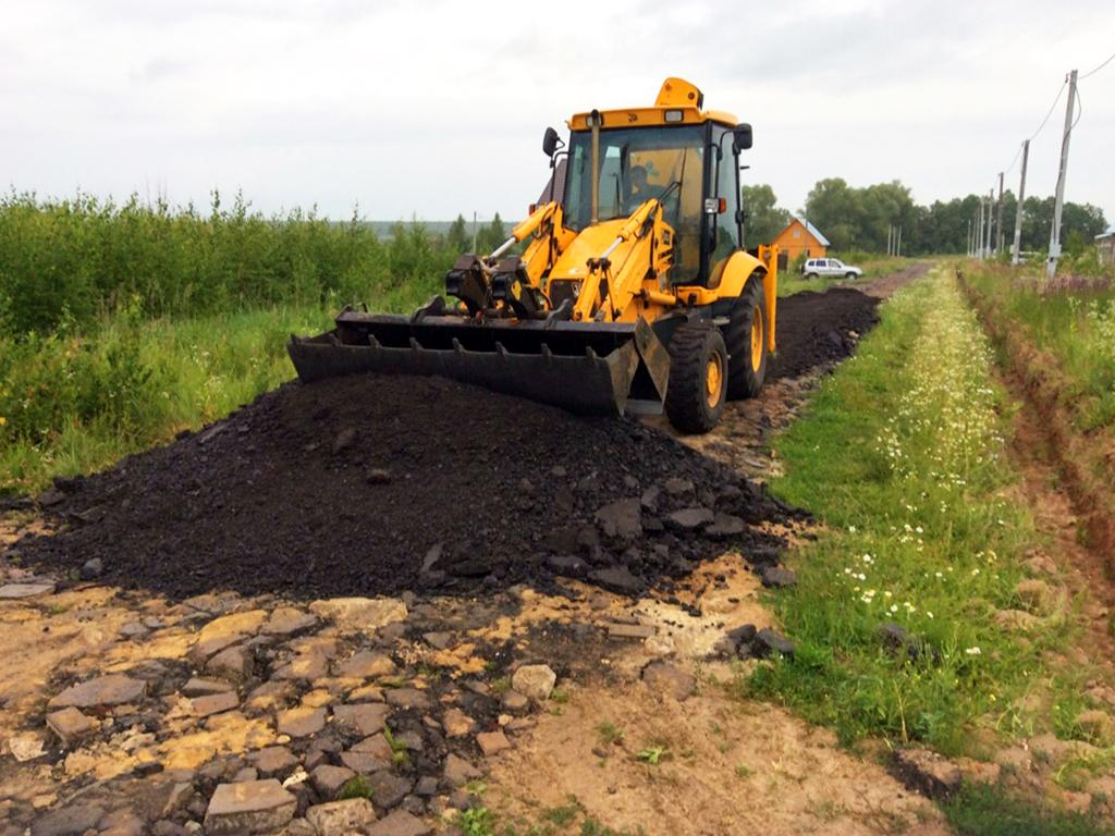 В поселке «Раменские дали» продолжается строительство дорог во 2 этапе