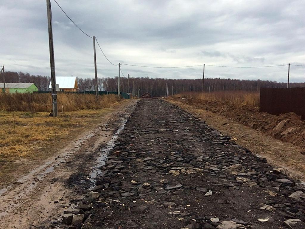 На въезде в поселок «Раменские дали» установлен шлагбаум