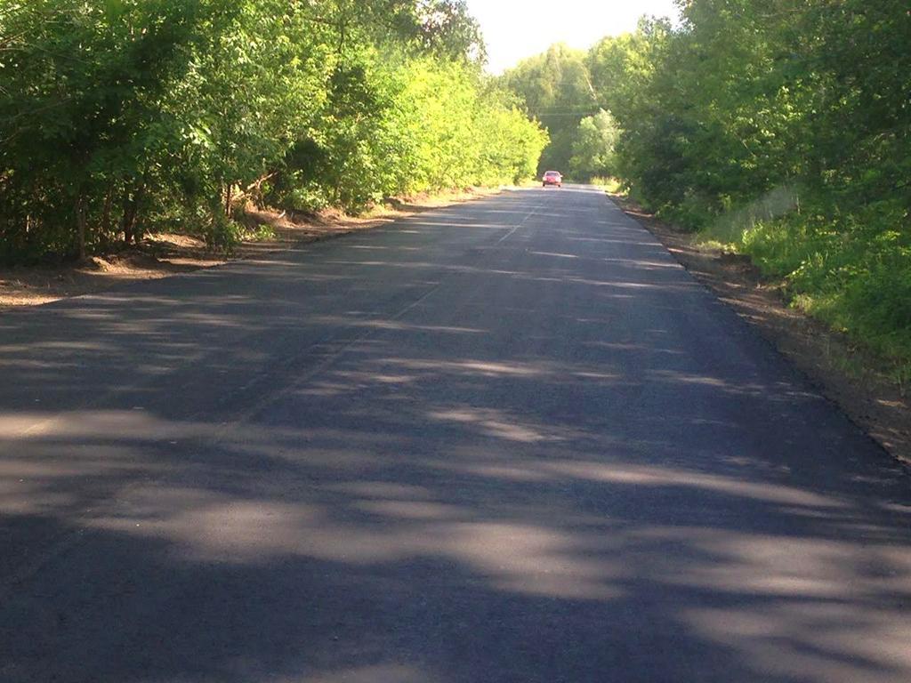 На дороге к поселку «Раменские дали» заменили асфальтовое покрытие