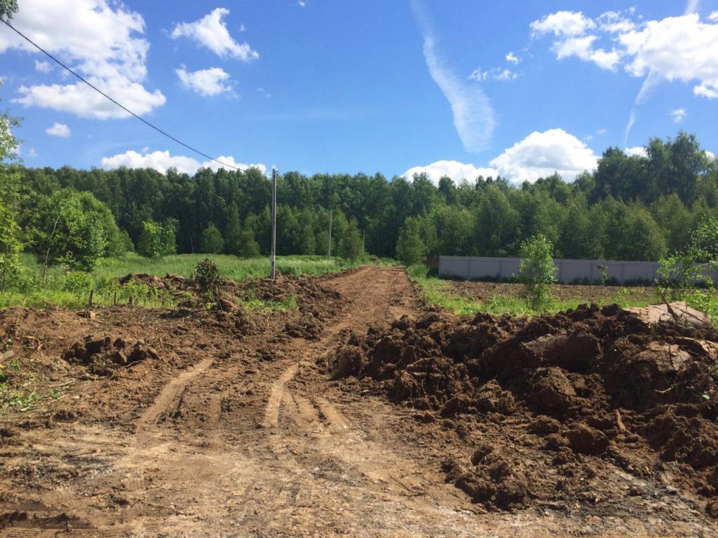 Началось строительство дорог в КП «Ясная поляна» вдоль участков с 1 по 9