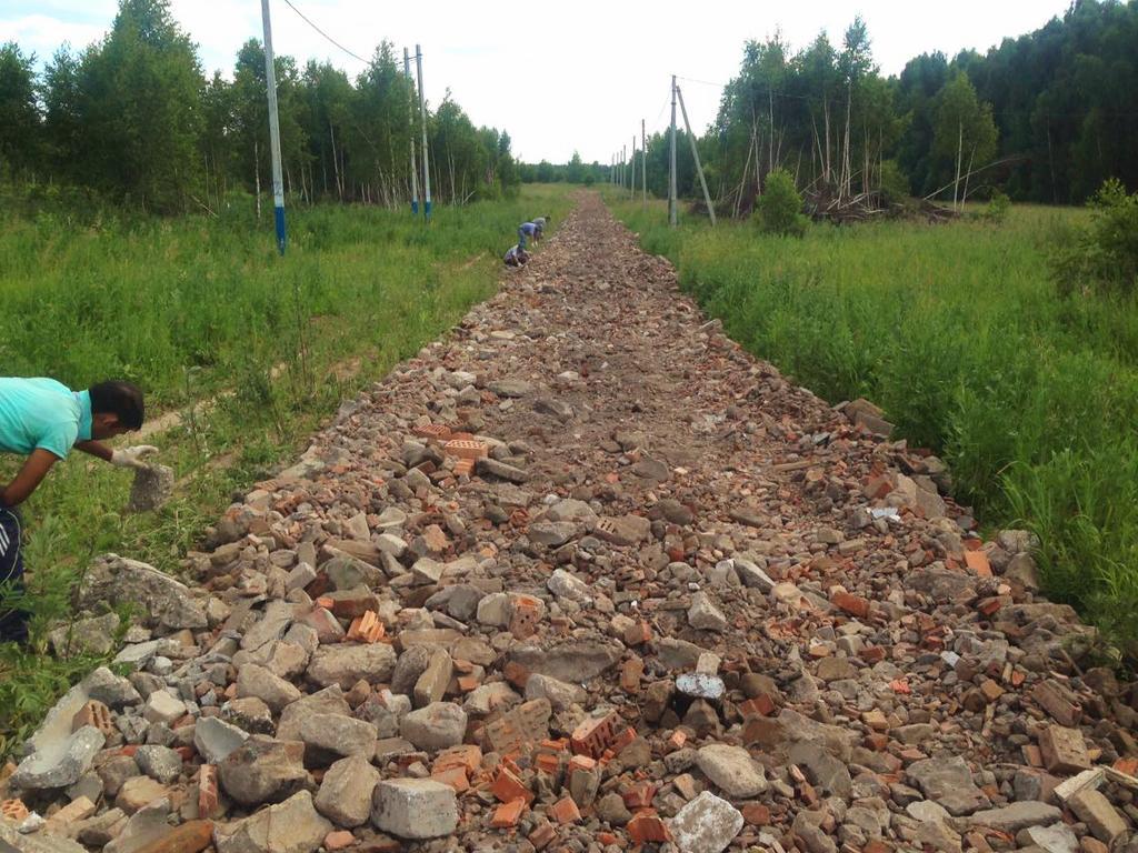 Начато строительство рабочих дорог во втором этапе КП «Ясная поляна»